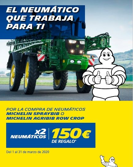 PROMOCION MICHELIN SPRAYBIB O AGRIBIB ROW CROP